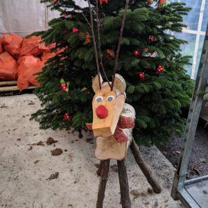 Wooden Reindeer Large