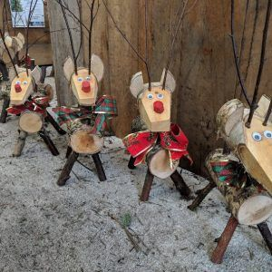 Wooden Reindeer Small