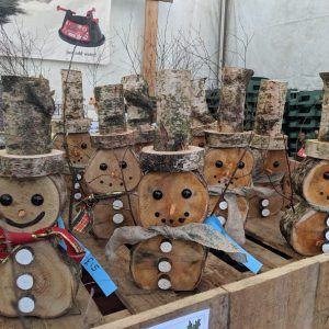 Wooden Snowman Small