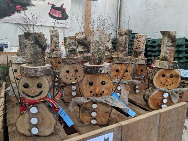 Wooden Snowman Small